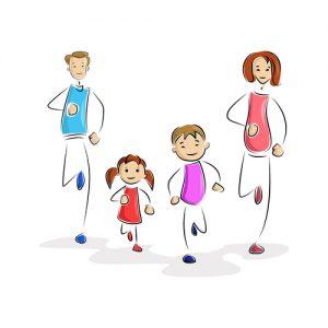 Rodzinna aktywność sportowa.