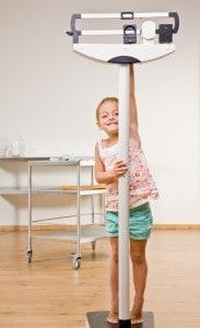 prawidłowy stosunek wzrostu do wagi dziecka