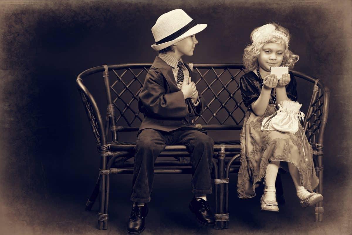 Pierwsza miłość - zakochany nastolatek